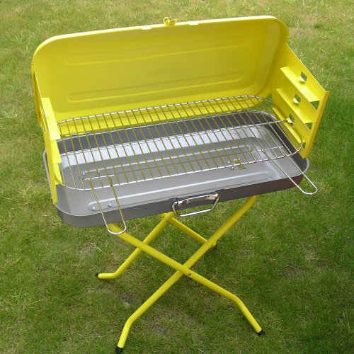 Large picture of Yellow folding Valencia charcoal barbecue