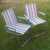 Small picture of Stripy Valencia folding picnic chairs